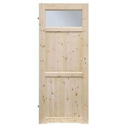 Drzwi z tulejami Radex Lugano 60 lewe sosna surowa