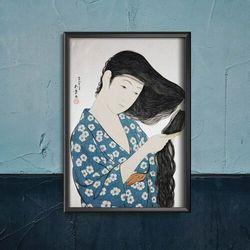 Plakat w stylu retro Plakat w stylu retro Wielka fala w Kanagawa Katsushika Hokusai