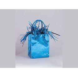 Obciążnik do balonów napełnionych helem Mini torebka prezentowa niebieska - 178 g.
