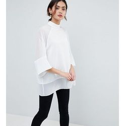 ASOS DESIGN TALL Sheer and Solid Oversize Tee - White
