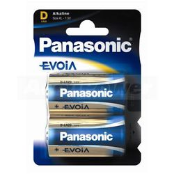 Panasonic Evolta D/Mono LR20 Alkaline Battery 2-Pack