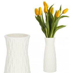 Wazon 21cm nietłukący na kwiaty do salonu, kuchni biały nowoczesny