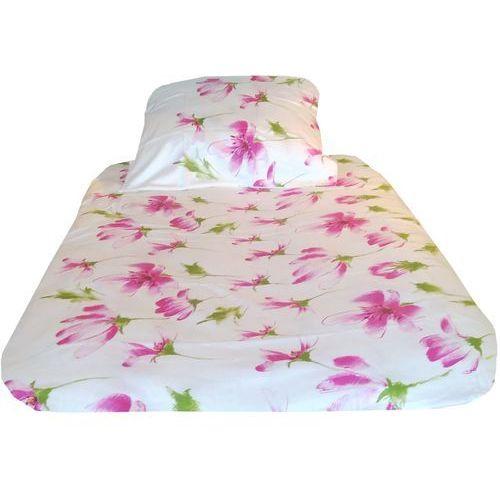 Pościel, POŚCIEL satyna bawełniana, różowe kwiaty