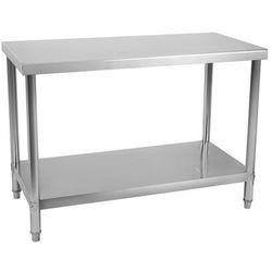 Stół roboczy - 100 x 70 cm - 120 kg - stal nierdzewna
