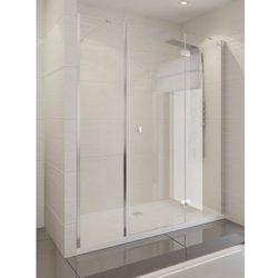 New Trendy Platinium drzwi wnękowe MODENA PLUS 125, prawe, wys.190 cm, czyste szkło EXK-1006/EXK-1030P
