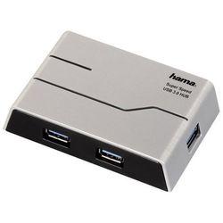 Hama 39879 4 x USB 3.0 (czarny) - produkt w magazynie - szybka wysyłka!