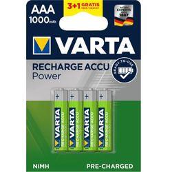 Varta akumulatory Power 3+1 AAA 1000 mAh R2U 5703301494
