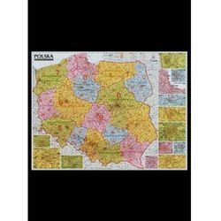 Polska mapa kodów pocztowych 1:685 ścienna