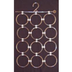 Panel (12 elementów) przezroczystych wieszaków do prezentacji apaszek, szalików itp.
