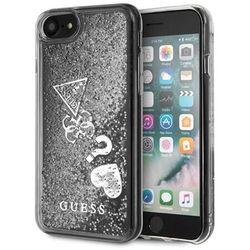 Guess GUHCI8GLHFLSI iPhone 7/8 srebrny /silver hard case Glitter Hearts