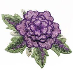 Naszywka warstwowy kwiat fiolet 12,5 cm x max 8cm - FIOLET
