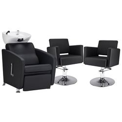 Zestaw Mebli Fryzjerskich - Myjnia Komfort Max + 2 Fotele Premium Dysk