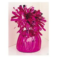 Balony, Obciążnik foliowy do balonów napełnionych helem - ciemnoróżowy - 176 g.