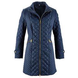 Płaszcz pikowany bonprix ciemnoniebieski