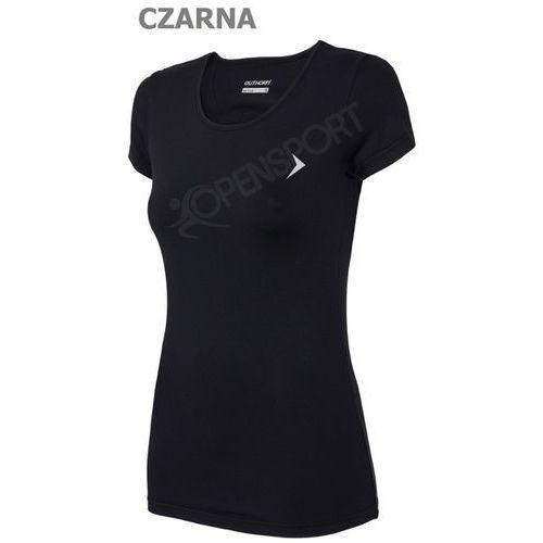 Odzież fitness, DAMSKA KOSZULKA FITNESS OUTHORN TOZ16 TSDF600 CZARNY S