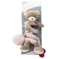 Zabawki do wózka, Sprężynka pluszowa New Baby Miś różowy 30 cm