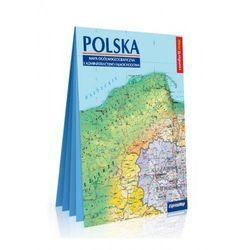 Polska. Mapa ogólnogeograficzna i administracyjno - samochodowa laminowana mapa XXL