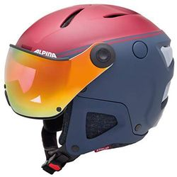 ALPINA ATTELAS VISIER QVM NIGHTBLUE BORDO - kask narciarski R. 53-58