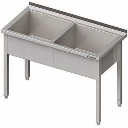 Stół z basenem dwukomorowym 1600x600x850 mm   STALGAST, 981376160