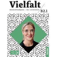 Książki do nauki języka, Vielfalt b2.1 kurs und arbeitsbuch + app hueber (opr. broszurowa)