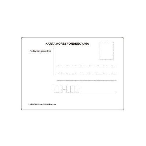 Pedagogika, Karta korespondencyjna [Pu/B-173]