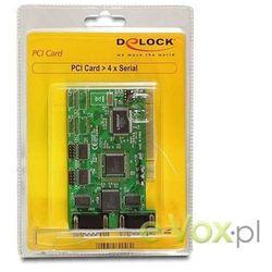 Kontroler Delock KARTA PCI SERIAL PORT (COM, RS-232) X4 PORTY (89046) Darmowy odbiór w 21 miastach!
