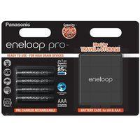 Akumulatorki, 4 x akumulatorki Panasonic Eneloop PRO R03 AAA 930mAh BK-4HCDEC4BE (blister + box)