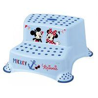 """Podesty dla dzieci, OKT Dwustopniowy podnóżek """"Mickey&Minnie"""", niebieski - BEZPŁATNY ODBIÓR: WROCŁAW!"""