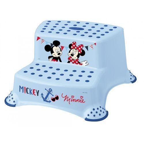 """Podesty dla dzieci, keeeper Dwustopniowy podnóżek """"Mickey&Minnie"""", niebieski - BEZPŁATNY ODBIÓR: WROCŁAW!"""