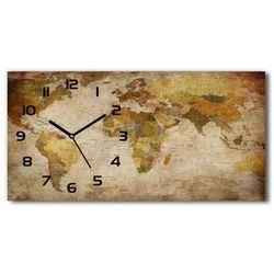 Zegar ścienny szklany Mapa polityczna