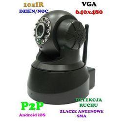 Kamera Bezprzewodowa IP/WIFI (zasięg cały świat!), Obrotowa, Dzienno-Nocna z Fonią + Możl. Zapisu...