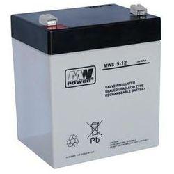Akumulator AGM żelowy MWP MWS 5-12 (12V 5Ah)
