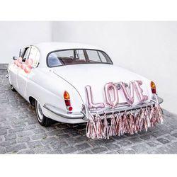 Zestaw dekoracji samochodowych Love różowe złoto - 5 elem.