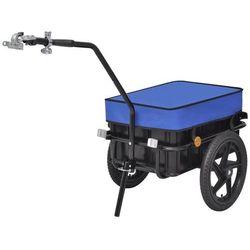 Przyczepa rowerowa transportowa/Taczka 70 L, niebieska