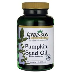 Olej z pestek dyni 1000mg Pumpkin Seed Oil 100 kapsułek SWANSON