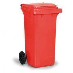 Plastikowy pojemnik na odpady CLD 120 litrów, czwerwony