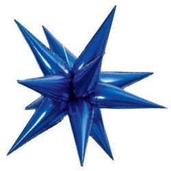 Balon foliowy 3d gwiazda niebieska - 102 cm - 1 szt.