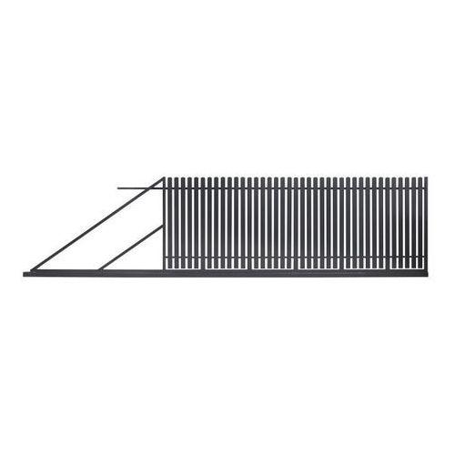 Bramy, Brama przesuwna Polbram Steel Group Daria 2 400 x 150 cm lewa