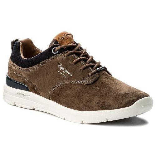 Obuwie sportowe dla mężczyzn, Sneakersy PEPE JEANS - Jayden Suede PMS30389 Stag 884