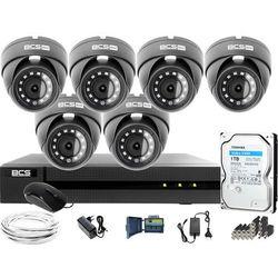 Monitoring Full HD BCS Basic Full HD 2MPx 1TB H265+ 6 x Kamera kopułkowa 2.8mm IR 30m