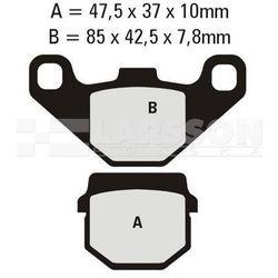Klocki hamulcowe EBC (2 szt.) SFA083/2 4101830 Piaggio/Vespa NRG, Gilera Stalker 50