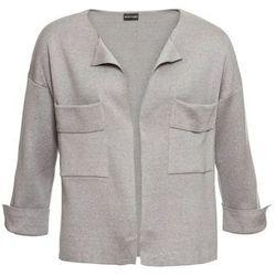 Sweter z dłuższym tyłem, długi rękaw bonprix czarno-biały w paski