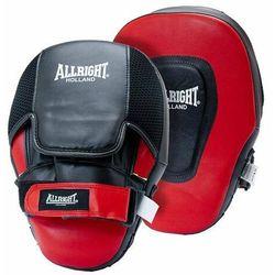 Łapa trenera Allright profilowana czarno-czerwony 2szt 5013