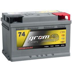 Akumulator GROM Premium 74Ah 680A EN DTR niski