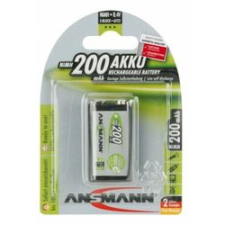 Ansmann Akumulator NiMH Rechargeable battery 9V block / 6F22 200 mAh max 1 pcs.