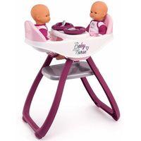 Pozostałe zabawki, Smoby Baby Nurse Krzesełko do karmienia lalek bliźniąt 2w1
