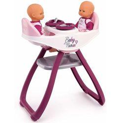 Smoby Baby Nurse Krzesełko do karmienia lalek bliźniąt 2w1