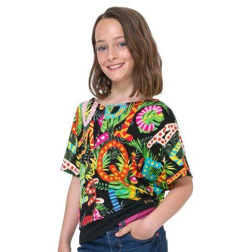 Koszulki z krótkim rękawkiem dziecięce, Desigual T-shirt dziewczęcy Swan 128 wielokolorowy - BEZPŁATNY ODBIÓR: WROCŁAW!