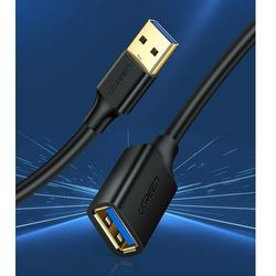 Kabel UGREEN 10373 (USB 3.0 M - USB 3.0 F; 2m; kolor czarny)
