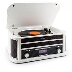 Auna Belle Epoque 1908 DAB Wieża stereo retro Gramofon DAB+ Bluetooth biała